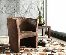 DELIFE Designsessel Goya Braun gepolstert Antik