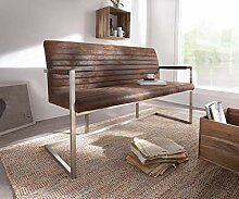 DELIFE Essbank Earnest Braun Vintage 140 cm mit