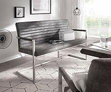 DELIFE Essbank Earnest Grau Vintage 140 cm mit