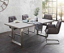 DELIFE Esszimmertisch Cement-Edge Grau 200x100