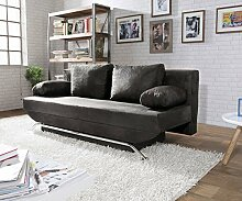 DELIFE Schlafcouch Cady Anthrazit 200x90 cm Antik