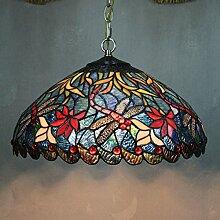 DELLT-16 Zoll gehobenen klassischen europ?ischen Tiffany-Lampen Studie Lampe Beleuchtung Restaurant Lampe Schlafzimmer Kinderzimmer Dekor Anh?nger