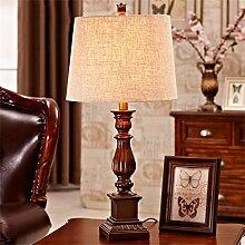 DELLT- Amerikanische Tischlampe Landschaft Retro Lampe Kreatives Schlafzimmer Bett Harz Lampe ( größe : S )