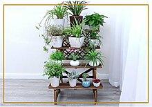 DELLT- Antistatische Holz Innenleiter Blumenständer Massivholz Balkon Mehrschicht - Holz Blumen Regal Multi - Blume Blumentopf Rack ( größe : 78cm )
