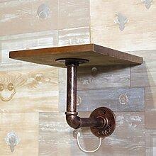 DELLT- Bügeleisen Kleiderbügel, Standfuß, Retro ist hängende Wandbekleidung Rack ( Farbe : Gold copper )