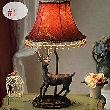 DELLT-Europäisches Land den Wohnzimmer Schlafzimmer Nachttischlampen Dekoration