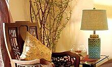 DELLT-Keramik neue klassische chinesische Dekoration Ideen Schlafzimmer Nachttischlampe