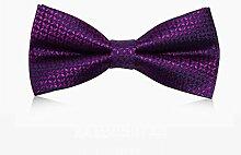 DELLT- Muster-Krawatte Verheiratete Männer-Kleid-britische Art- und WeisePaisley-Querbinder-Geschenk-Kasten ( Farbe : Lila )