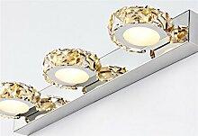 DELLT- Spiegel Vorne Lampe Badezimmer Badezimmer Champagner Gold Led Spiegel Licht Einfache moderne Wandleuchte Wasserdicht Anti-Fog Kristall Edelstahl Spiegel Schrank Lichter ( Farbe : Warmes weißes Licht-32 cm )