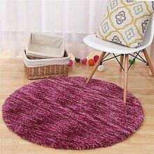 DELLT UK-Import Sectional Färben Runde Teppiche Computer Stuhl Mat Wohnzimmer Schlafzimmer Teppich Yoga Teppiche