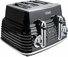 DeLonghi 4Slice Scultura Toaster-Schwarz.