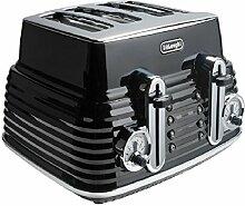 DeLonghi 4Slice Scultura Toaster–Schwarz.