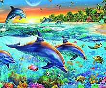 Delphin Diamant Malerei 5D DIY Voll Bohren