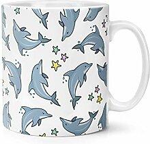 Delphin Sterne Muster 283g Becher Tasse
