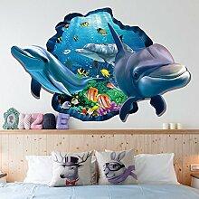 Delphin Undewater Seefisch 3D Aufkleber
