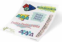 Delta Delta Delta Delta 90er Jahre Aufkleber
