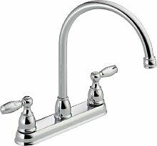 Delta Wasserhahn 21987LF Zweigriff-Küchenarmatur,