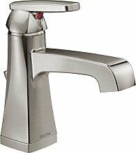 Delta Wasserhahn 564-ssmpu-dst Ashlyn einzigen Centerset Mischbatterie Bad Wasserhahn, Edelstahl