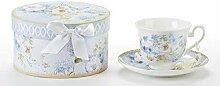 Delton Tasse und Untertasse aus Porzellan,