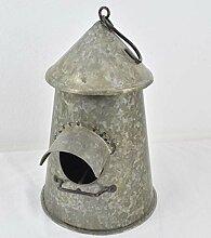 Deluxe Deko Vogelhaus aus Metall. Die Dekorative