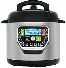 Deluxe Küchenmaschine programmierbar 6 L - Praktisches Küchengerät, das die Garzeit je nach Zutaten und deren Menge berechnet - Leckere Mahlzeiten einfach zubereiten, auch für die ganze Familie!