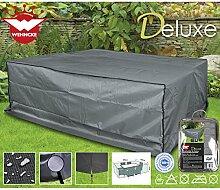 Deluxe Polyester 420D Schutzhülle für Rattan- Gartenmöbel-Garnitur, 200x160cm - Lounge Schutz Hülle Abdeckung Tragetasche Plane