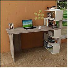 Deluxe Schreibtisch - Avola/Weiß - Computertisch