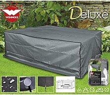 Deluxe Schutzhülle für Garten-Lounge-Set, 240x200cm Polyester 420D - Sitzgruppe Gartenmöbel Schutz Hülle Abdeckung Lounge Möbel Plane