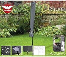 Deluxe Schutzhülle für Gartenschirme, ø180-200cm Polyester 420D - Sonnenschirm Party Schirm Gartenschirm Schutz Hülle Abdeckung Tragetasche Haube