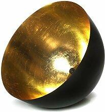 Deluxe Xxl Hängelampe Pendellampe E27 Wohnzimmer Schwarz Gold Modern Metall Neu Metall Massiv Lampe + BRILLIBRUM® FLYER Geschenke Geschenkidee