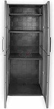 DEMA Kunststoffschrank 68x37x163 cm mit 3 Böden