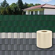 DEMA PVC Sichtschutzstreifen 70 m x 19 cm creme