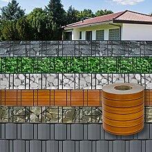 DEMA PVC Sichtschutzstreifen 70mx19cm Holz-Optik
