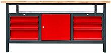 DEMA Werkbank XL 170 Schublade/Tür/Schublade anthrazi