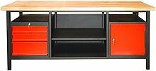 DEMA Werkbank XXL2000 3 Schubl. 1Tür anthrazi