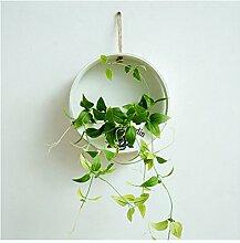 Demana - Kleiderbügel zum Aufhängen Übertopf Topf mit Pflanzen-Übertopf-Halterung für Innen- und Outdoor-Fenster Zuhause-(nicht im Lieferumfang enthalten)
