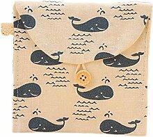 Demarkt Sanitär Pad Tasche Damenbinde Paket Wal Beige 12*11cm
