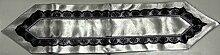 Dematex Tischläufer Spitze Silver/Black 115x32cm