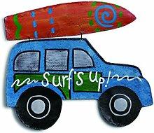 DEMDACO Auto mit Surfbrett Türaufhänger, multicolor, 22,5