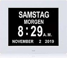Dementia Digital Wecker, Uhr Mit Kalender,