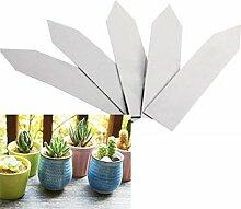 Demiawaking 100Pcs Mini Wasserdicht Kunststoff Garten Pflanzenstecker Label Pflanzenstecker Stecketiketten Beschriften Pflanzschilder Schilder