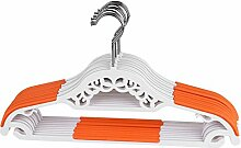 Demiawaking 10pcs geschnitzt Anti Rutsch Racks Kleidung Aufhänger nass trocken Kleiderbügel, Orange