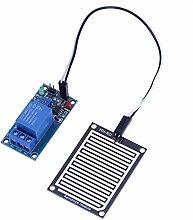 Demiawaking 12V Steuermodul Feuchtigkeitstropfen Feuchtigkeitssensor Modul Regen Leck M35