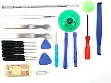 Demiawaking 21 in 1 Handy Reparatur Werkzeuge Schraubendreher Set für iPad4 iPhone 6 P
