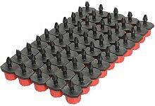Demiawaking 50Pcs 1/4 Zoll Einstellbar Pflanze Garten Wasser Bewässerung Kit Set Micro Drip Bewässerung Tropfer (50 pcs)