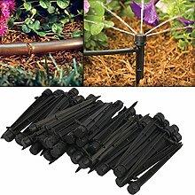 Demiawaking 50Pcs Verstellbare Pflanze Garten Wasser Bewässerung Kit Set Micro Drip Bewässerung Tropfer (2)