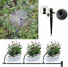 Demiawaking 50Pcs Verstellbare Pflanze Garten Wasser Bewässerung Kit Set Micro Drip Bewässerung Tropfer (1)