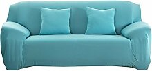 Demiawaking Azurblau Sofabezüge Einfarbig