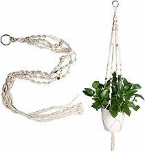 Demiawaking Betriebsaufhänger Makramee Pflanze Aufhänger Blumentöpfe Seil für Indoor Outdoor Garten Dekoration (Blumentopf ist nicht enthalten) (115cm)