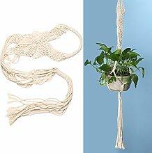 Demiawaking Betriebsaufhänger Makramee Pflanze Aufhänger Blumentöpfe Seil für Indoor Outdoor Garten Dekoration (Blumentopf ist nicht enthalten) (B)